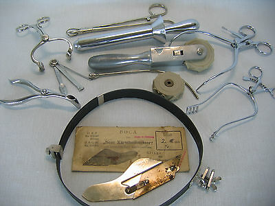 Vintage Assorted Medical Surgical Utensils Tools Implements