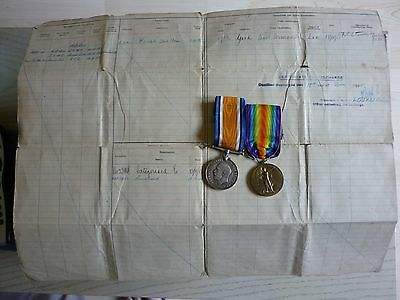 21st Middlesex Regiment medals Wounded RAF Original Document Bismarck connection