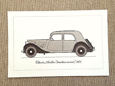 "Large High Quality Litho Print/Poster - Citroen 7 Berline ""Traction Avant"" 1934"