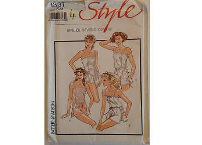 Part UNCUT Style #1337 Vintage Lingerie Silk and Lace Camisole French Knickers