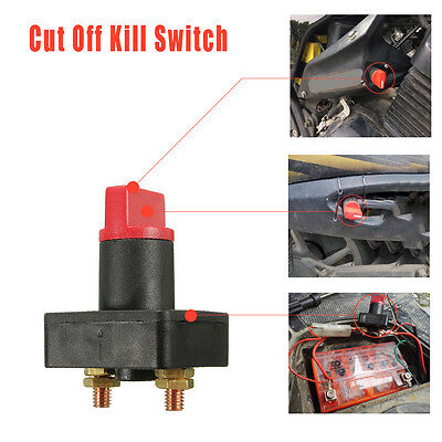 Car Truck Boat Camper 100a Battery Isolator Disconnect Cut Off Kill Switch Black