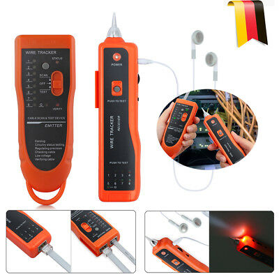 Ethernet LAN Netzwerk Kabeltest  Telephone Cable Wire RJ45/RJ11 Tracker Tester U