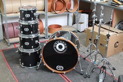 Hand made in UK 5 piece drum kit shell pack - Carrera Drums - African Mahogany