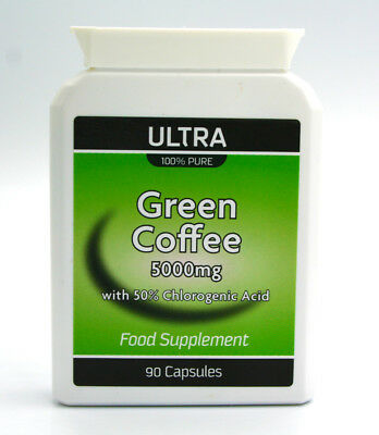 Ultra Green Coffee Bean Extract 5000mg -100% Pure Highest Strength 5000mg