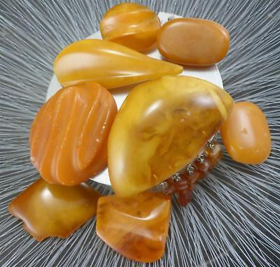 8 Bernstein Broschen natural baltic amber butterscotch 64,5 g - 4