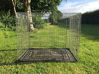 Dog Cage, Silver, Extra Large
