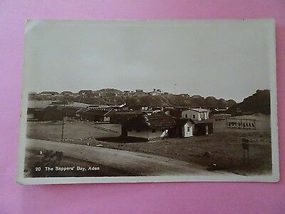 The Sappers' Bay Aden Rp Vintage Postcard