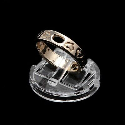 Transparent Finger Ring Display Stand Holder Jewelry Tray Ring Showcase Plastic
