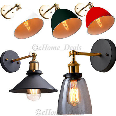 Modern Vintage Industrial Metal & Clear Glass Sconce Wall Light Wall Lamp