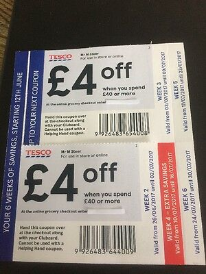 £22 Tesco Money Off Vouchers