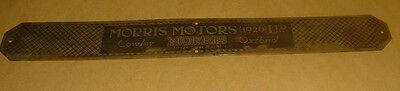 Vintage Brass Morris Motors Cowley Oxford Sign
