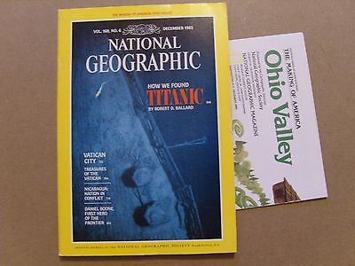 National Geographic Magazine - December 1985 - Usa Ohio Valley Map Included