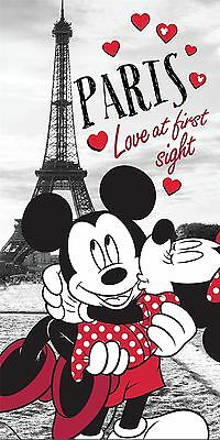 Mickey Mouse In Paris Summer Beach Towel By BestTrend