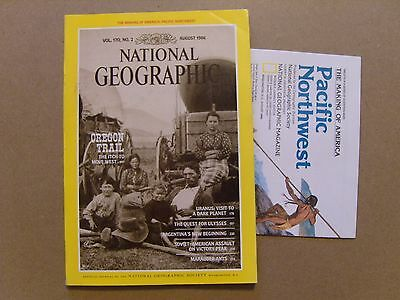 National Geographic Magazine - August 1986 - Usa Pacific Northwest Map Included