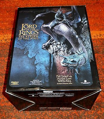 Sideshow Weta Lord Of The Rings Fell Beast Morgul Lord Figure Boxed VGC