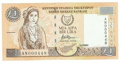 Cyprus Cat # 60c 1 pound LOW SERIAL #000448 (#64)