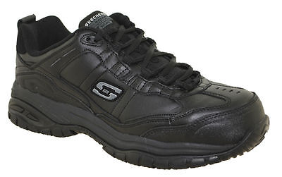 Skechers Men's 77053 Black Composite Toe Safety Work Shoes--Special