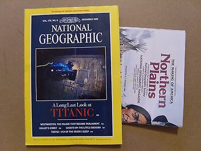 National Geographic Magazine - December 1986 - Usa Northern Plains Map Included