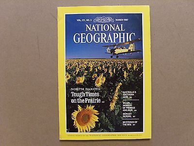 National Geographic Magazine - March 1987 - See Images For Contents