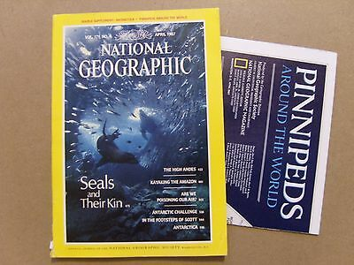 National Geographic Magazine - April 1987 - Antarctica Pinnipeds Map Included
