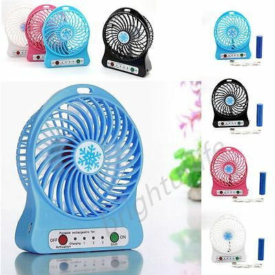 Portable Handheld Rechargeable USB Desk Pocket Cooler Mini Fan 18650 Battery UK