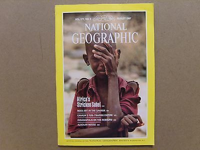 National Geographic Magazine - August 1987 - See Images For Contents