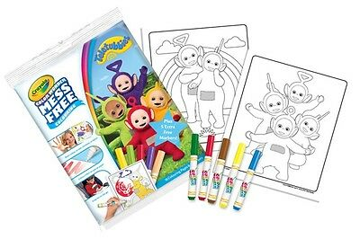 Crayola Teletubbies Color Colour Wonder Mess Free Colouring Activity Set Markers
