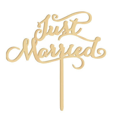 Wooden Cake Toppers Wedding Favors Just Married G1G3 C2P5
