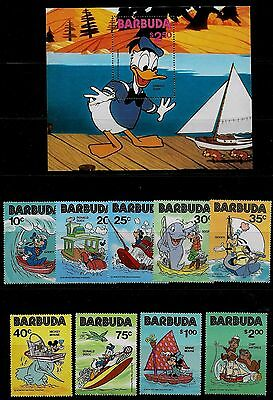 Antigua - Barbuda 1981 Disney Cartoons Issue complete with MS - MNH