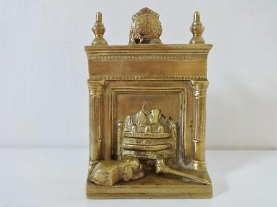Vintage Brass Dolls House Fireplace Mantle