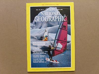 National Geographic Magazine - March 1988 - See Images For Contents