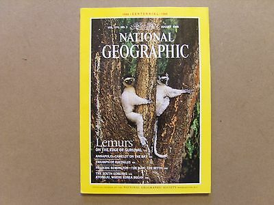 National Geographic Magazine - August 1988 - See Images For Contents