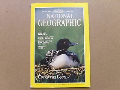 National Geographic Magazine - April 1989 - See Images For Contents