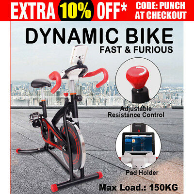 New Spin Bike Flywheel Exercise Bicycle Commercial Home Gym Fitness Workout Gym