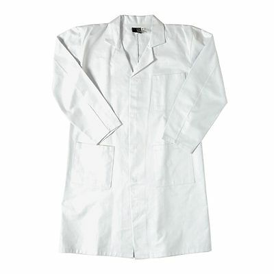 """Unisex Youth School White Cotton Lab Coat Pocket Heavyweight Chest 24-46"""" LC3263"""