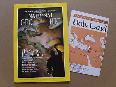 National Geographic Magazine - December 1989 - The Holy Land Map Included