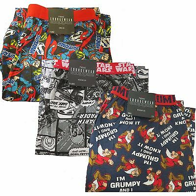 Mens Ex Chainstore Official Licensed Character Lounge Pants Marvel Disney DC