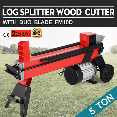 5T/2200W Hidráulica Log Splitter With Duo Blade Electric Máquina