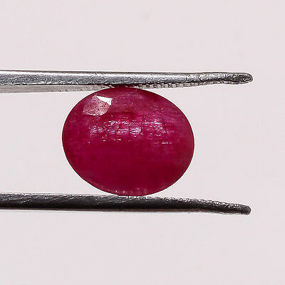 Natural Faceted Red Ruby 1.70Ct Oval Shape 6X8Mm Loose Gemstone