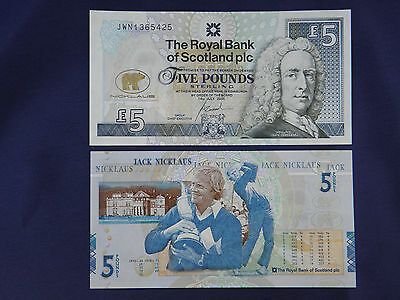 JACK NICKLAUS MINT £5 Pound Uncirculated RBS Note Ltd Edition St Andrews Golf