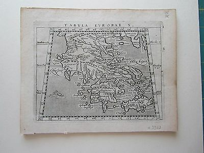 GREECE  ancient World Magini Ptolemy 1617 orig. antique map