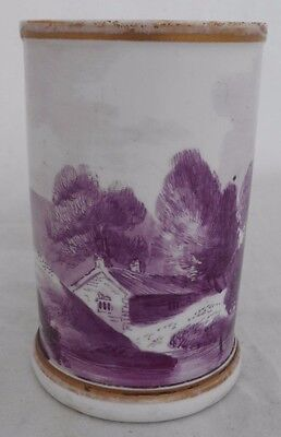 Minton Vase First Period British China Continous Painted Landscape Height 9.5 cm