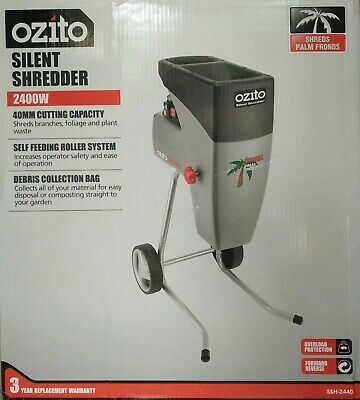 Ozito™ 2400W Silent Electric Garden Shredder Mulcher Wood Chipper - 3YR WTY