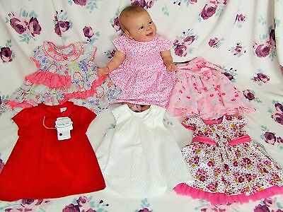 Bnwt Baby Girl 0-3 Mth Bundle 6 Dress Dresses Mayoral Top Quality Outfits Reborn