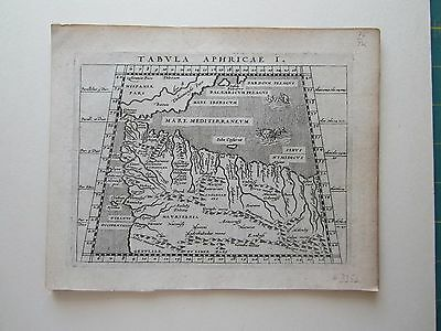 AFRICA Tunesia Marocco ancient World Magini Ptolemy 1617 orig. antique map