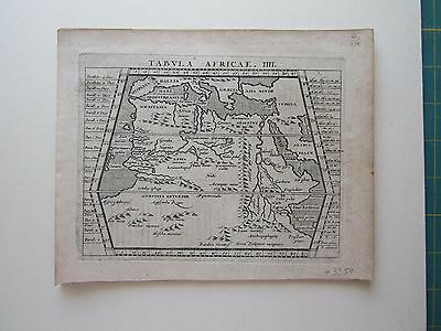 AFRICA Northern ancient World Magini Ptolemy 1617 orig. antique map