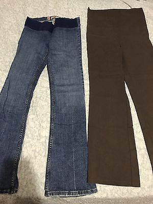 Bulk Lot Juicy Couture Maternity Jeans, Brown Bengaline Pants. Size 10. Work