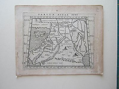 MIDDLE EAST Cyprus ancient World Magini Ptolemy 1617 orig. antique map