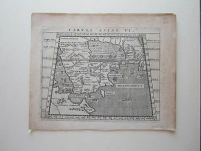 MIDDLE EAST Arabia ancient World Magini Ptolemy 1617 orig. antique map