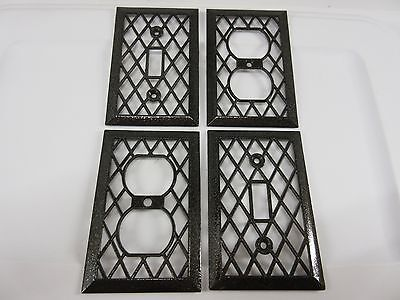 Vintage / Mid Century Zigzag Design Single Duplex Outlet & Light Switch Covers